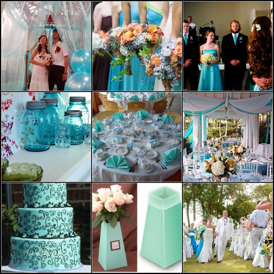 Blue Wedding, Decoration, Blue Wedding Decoration
